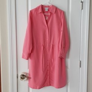 Soft Surroundings sz PL Coral Dress w/Necklace